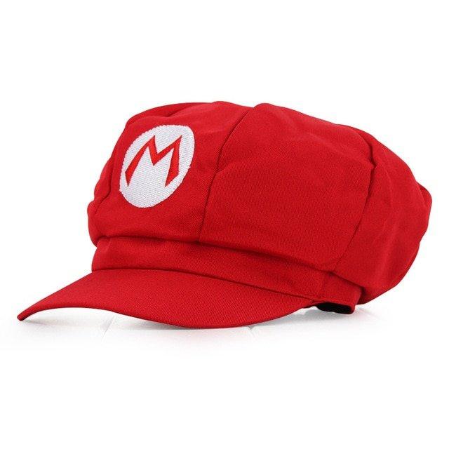 Anime Super Mario Hat Cap Luigi Bros Cosplay Baseball Costume 17