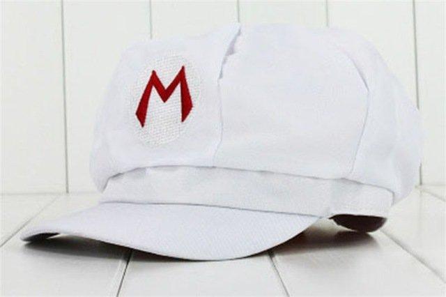 Anime Super Mario Hat Cap Luigi Bros Cosplay Baseball Costume 13