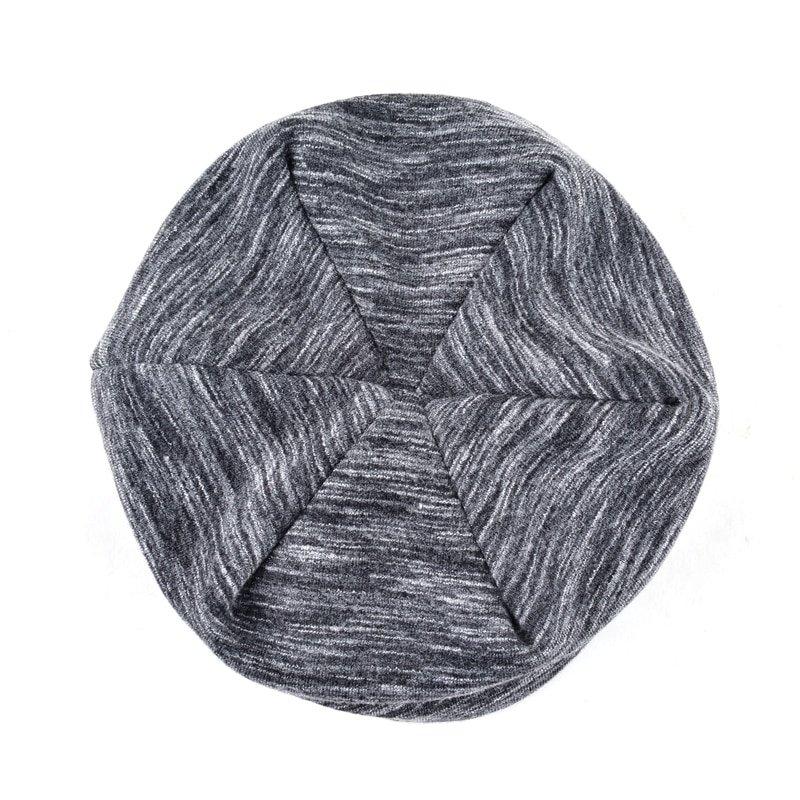 Autumn Hip hop cap Winter beanies men hats Rock logo Casual Cap Turban hat bonnet plus velvet caps for men beanie 7