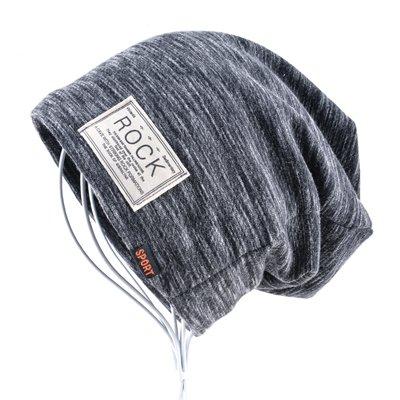 Autumn Hip hop cap Winter beanies men hats Rock logo Casual Cap Turban hat bonnet plus velvet caps for men beanie 13