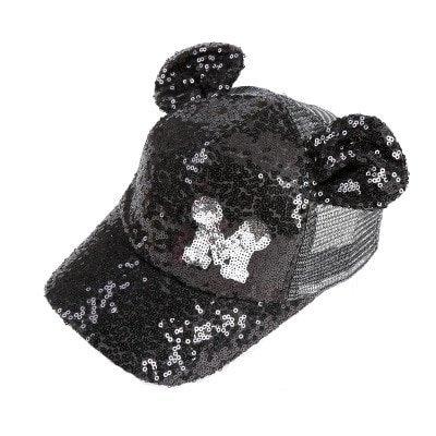 Sequins Ear Hats Kids Snapback Baseball Cap With Ears Funny Hats Spring Summer Hip Hop Boy Hats Caps 16