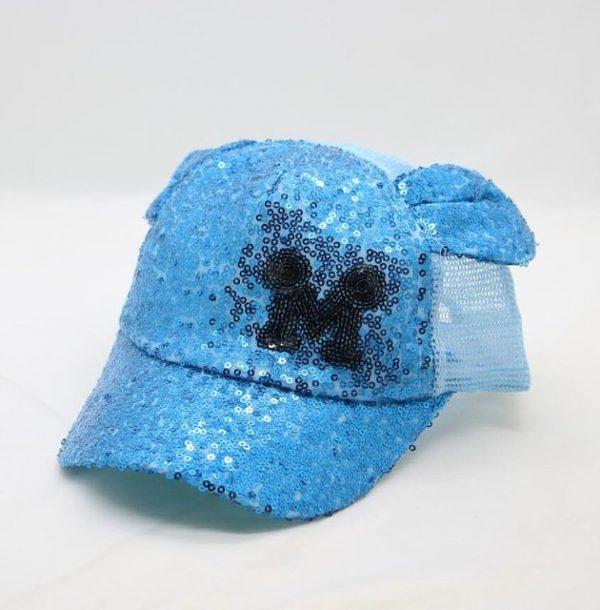 Sequins Ear Hats Kids Snapback Baseball Cap With Ears Funny Hats Spring Summer Hip Hop Boy Hats Caps 18
