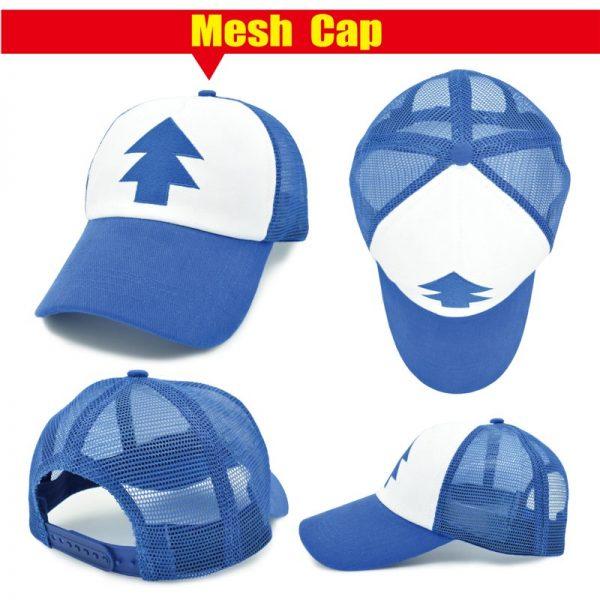CLIMATE Gravity Falls Dipper Mabel Pines Cosplay Caps Dipper Gravity Falls Baseball Cap Summer Cool Mesh Net Trucker Caps Hat 8