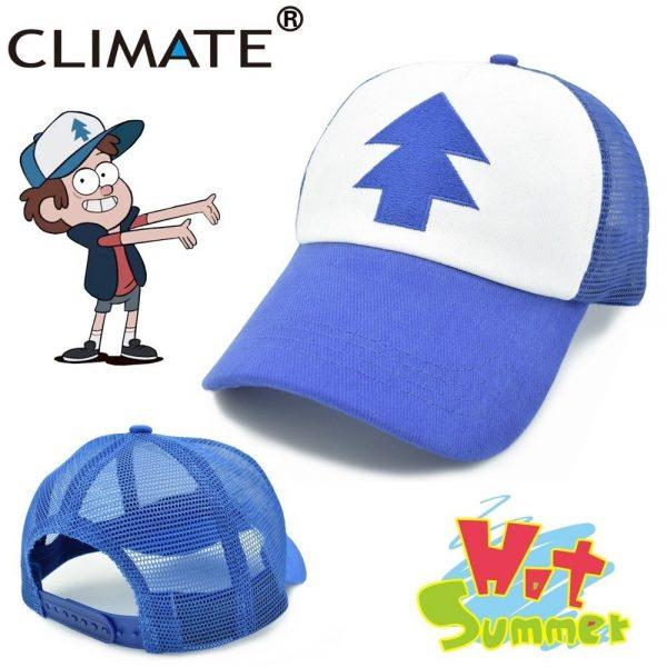 CLIMATE Gravity Falls Dipper Mabel Pines Cosplay Caps Dipper Gravity Falls Baseball Cap Summer Cool Mesh Net Trucker Caps Hat 2