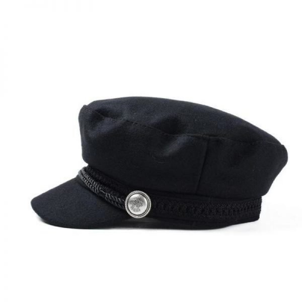 COKK Winter Hats For Women Winter Cap Wool Hat Female Button Baseball Cap Sun Visor Hat Gorras Casquette Black Fall Boina Bone 4