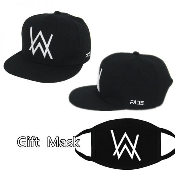 DJ Alan Walker Cosplay Costumes Hats Adjustable Black Cap With Gift Mask 2