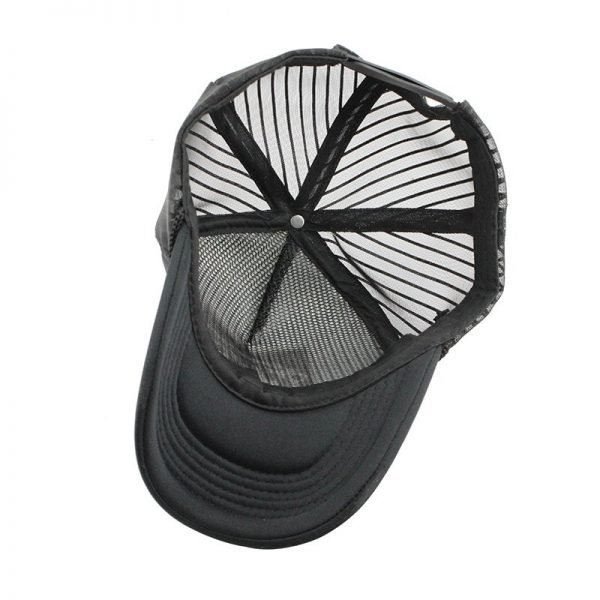 Hip Hop Black leopard Print Curved Baseball Caps Summer Mesh Snapback Hats For Women Men casquette Trucker Cap 10