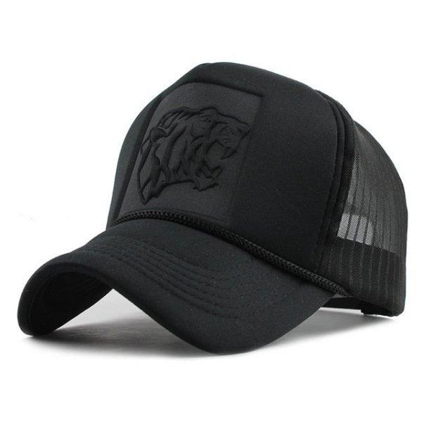 Hip Hop Black leopard Print Curved Baseball Caps Summer Mesh Snapback Hats For Women Men casquette Trucker Cap 14