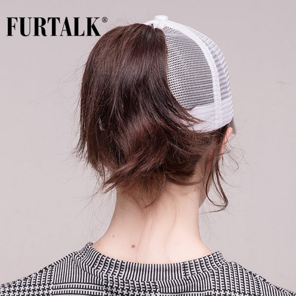 Ponytail Baseball Cap Women Messy Bun Baseball Hat Snapback 4