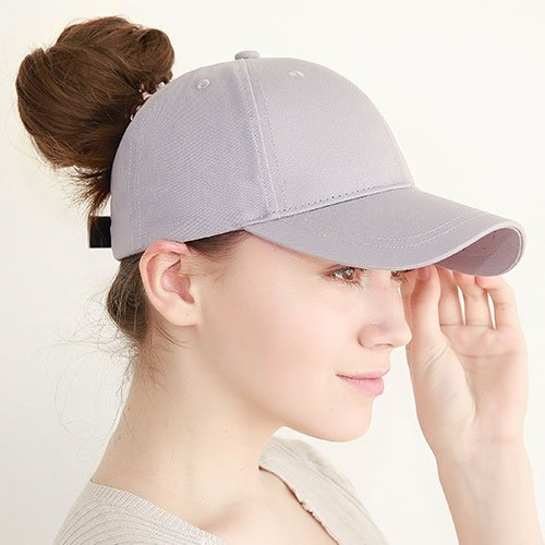 Ponytail Baseball Cap Women Messy Bun Baseball Hat Snapback 44