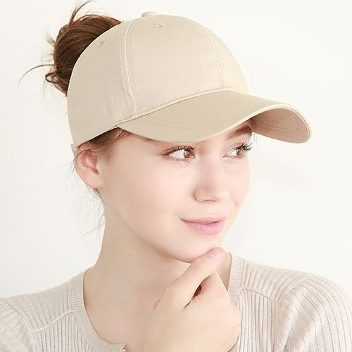 Ponytail Baseball Cap Women Messy Bun Baseball Hat Snapback 46