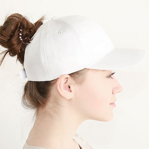 Ponytail Baseball Cap Women Messy Bun Baseball Hat Snapback 50