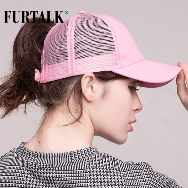 Ponytail Baseball Cap Women Messy Bun Baseball Hat Snapback 6