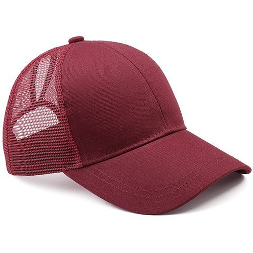 Ponytail Baseball Cap Women Messy Bun Baseball Hat Snapback 18