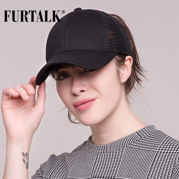 Ponytail Baseball Cap Women Messy Bun Baseball Hat Snapback 8
