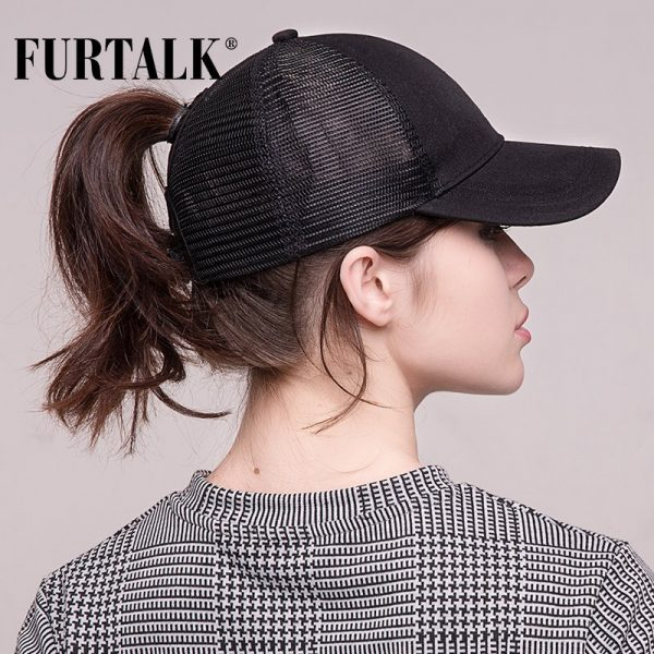 Ponytail Baseball Cap Women Messy Bun Baseball Hat Snapback 10