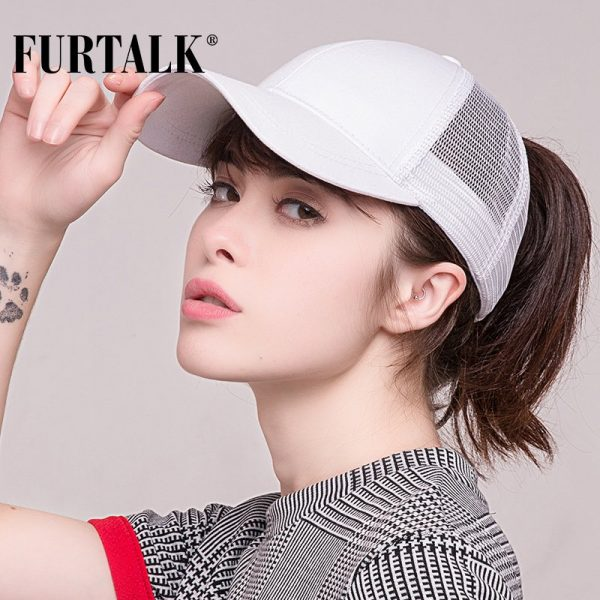 Ponytail Baseball Cap Women Messy Bun Baseball Hat Snapback 2
