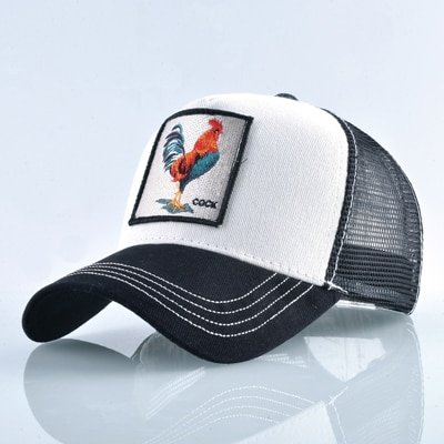 Fashion Animals Embroidery Baseball Caps Men Women Snapback Hip Hop Hat Summer Breathable Mesh Sun Gorras Unisex Streetwear Bone 19