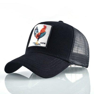 Fashion Animals Embroidery Baseball Caps Men Women Snapback Hip Hop Hat Summer Breathable Mesh Sun Gorras Unisex Streetwear Bone 20