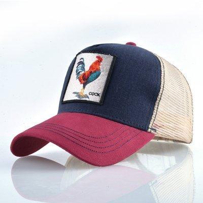 Fashion Animals Embroidery Baseball Caps Men Women Snapback Hip Hop Hat Summer Breathable Mesh Sun Gorras Unisex Streetwear Bone 22