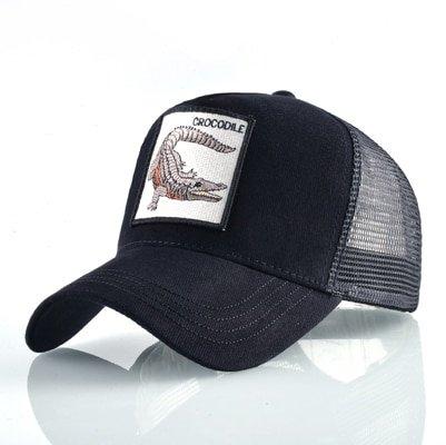 Fashion Animals Embroidery Baseball Caps Men Women Snapback Hip Hop Hat Summer Breathable Mesh Sun Gorras Unisex Streetwear Bone 26