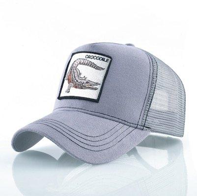 Fashion Animals Embroidery Baseball Caps Men Women Snapback Hip Hop Hat Summer Breathable Mesh Sun Gorras Unisex Streetwear Bone 30