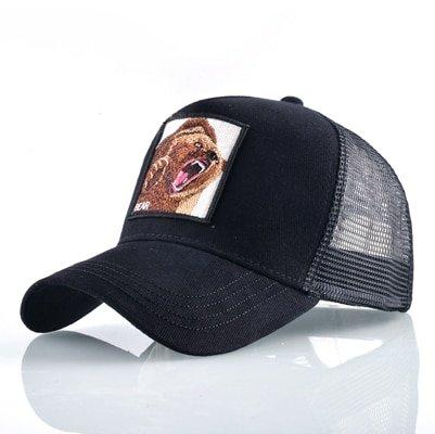 Fashion Animals Embroidery Baseball Caps Men Women Snapback Hip Hop Hat Summer Breathable Mesh Sun Gorras Unisex Streetwear Bone 32