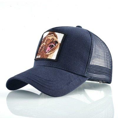 Fashion Animals Embroidery Baseball Caps Men Women Snapback Hip Hop Hat Summer Breathable Mesh Sun Gorras Unisex Streetwear Bone 33