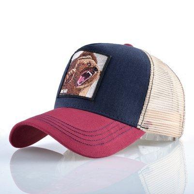 Fashion Animals Embroidery Baseball Caps Men Women Snapback Hip Hop Hat Summer Breathable Mesh Sun Gorras Unisex Streetwear Bone 34