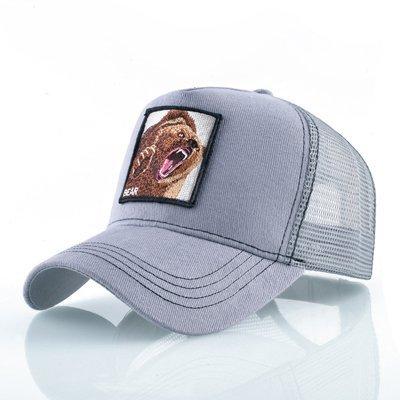 Fashion Animals Embroidery Baseball Caps Men Women Snapback Hip Hop Hat Summer Breathable Mesh Sun Gorras Unisex Streetwear Bone 35