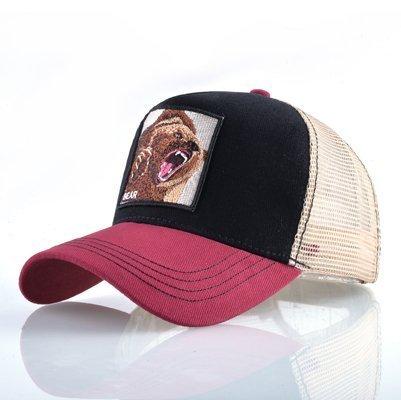 Fashion Animals Embroidery Baseball Caps Men Women Snapback Hip Hop Hat Summer Breathable Mesh Sun Gorras Unisex Streetwear Bone 36