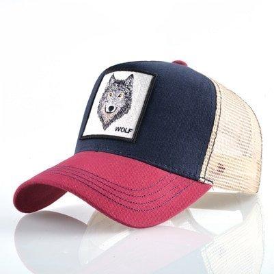 Fashion Animals Embroidery Baseball Caps Men Women Snapback Hip Hop Hat Summer Breathable Mesh Sun Gorras Unisex Streetwear Bone 10