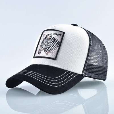 Fashion Animals Embroidery Baseball Caps Men Women Snapback Hip Hop Hat Summer Breathable Mesh Sun Gorras Unisex Streetwear Bone 37