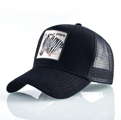 Fashion Animals Embroidery Baseball Caps Men Women Snapback Hip Hop Hat Summer Breathable Mesh Sun Gorras Unisex Streetwear Bone 38