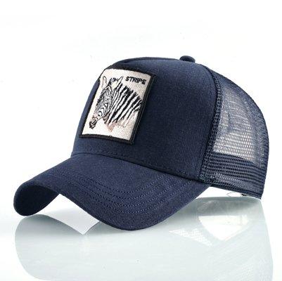 Fashion Animals Embroidery Baseball Caps Men Women Snapback Hip Hop Hat Summer Breathable Mesh Sun Gorras Unisex Streetwear Bone 39