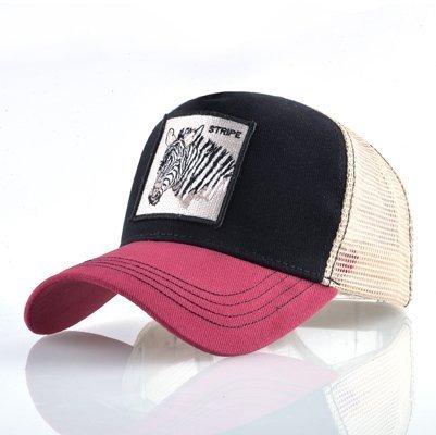Fashion Animals Embroidery Baseball Caps Men Women Snapback Hip Hop Hat Summer Breathable Mesh Sun Gorras Unisex Streetwear Bone 41