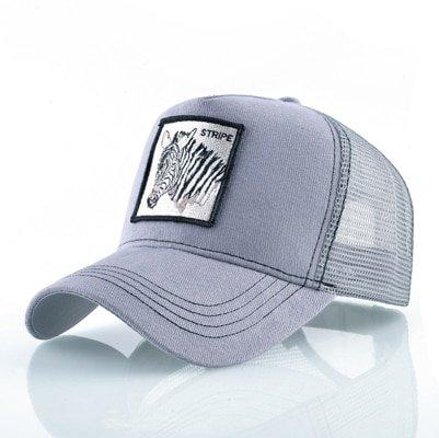 Fashion Animals Embroidery Baseball Caps Men Women Snapback Hip Hop Hat Summer Breathable Mesh Sun Gorras Unisex Streetwear Bone 42