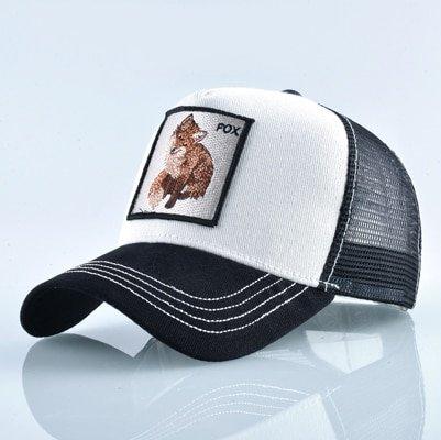 Fashion Animals Embroidery Baseball Caps Men Women Snapback Hip Hop Hat Summer Breathable Mesh Sun Gorras Unisex Streetwear Bone 43