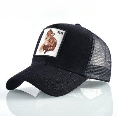 Fashion Animals Embroidery Baseball Caps Men Women Snapback Hip Hop Hat Summer Breathable Mesh Sun Gorras Unisex Streetwear Bone 44