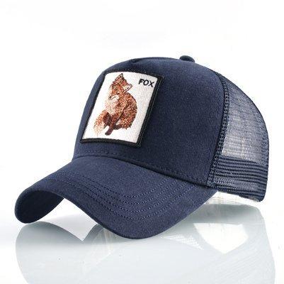 Fashion Animals Embroidery Baseball Caps Men Women Snapback Hip Hop Hat Summer Breathable Mesh Sun Gorras Unisex Streetwear Bone 45