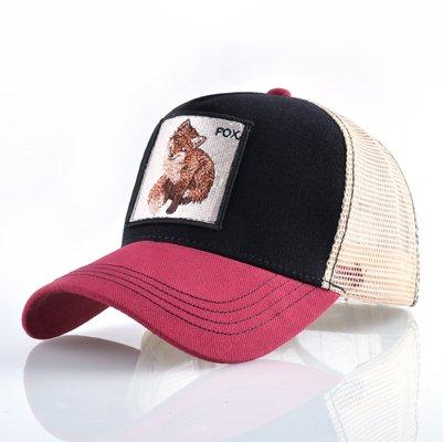 Fashion Animals Embroidery Baseball Caps Men Women Snapback Hip Hop Hat Summer Breathable Mesh Sun Gorras Unisex Streetwear Bone 46