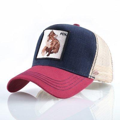 Fashion Animals Embroidery Baseball Caps Men Women Snapback Hip Hop Hat Summer Breathable Mesh Sun Gorras Unisex Streetwear Bone 47