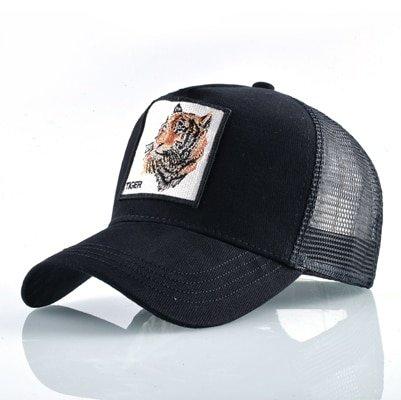 Fashion Animals Embroidery Baseball Caps Men Women Snapback Hip Hop Hat Summer Breathable Mesh Sun Gorras Unisex Streetwear Bone 50