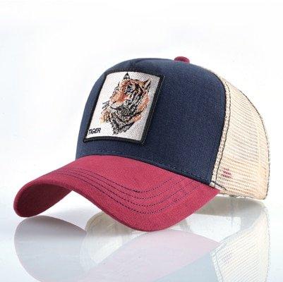 Fashion Animals Embroidery Baseball Caps Men Women Snapback Hip Hop Hat Summer Breathable Mesh Sun Gorras Unisex Streetwear Bone 52