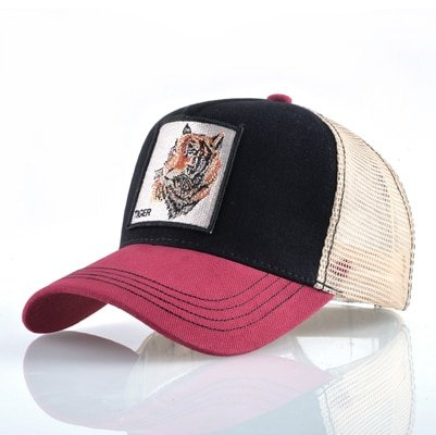 Fashion Animals Embroidery Baseball Caps Men Women Snapback Hip Hop Hat Summer Breathable Mesh Sun Gorras Unisex Streetwear Bone 53