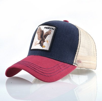 Fashion Animals Embroidery Baseball Caps Men Women Snapback Hip Hop Hat Summer Breathable Mesh Sun Gorras Unisex Streetwear Bone 16