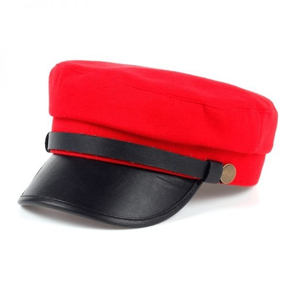 Fashion style Hex hat Unisex Newsboy Cap men Solid color cotton High Quality cowboy gorras planas man Berets Double fabric Casua 2