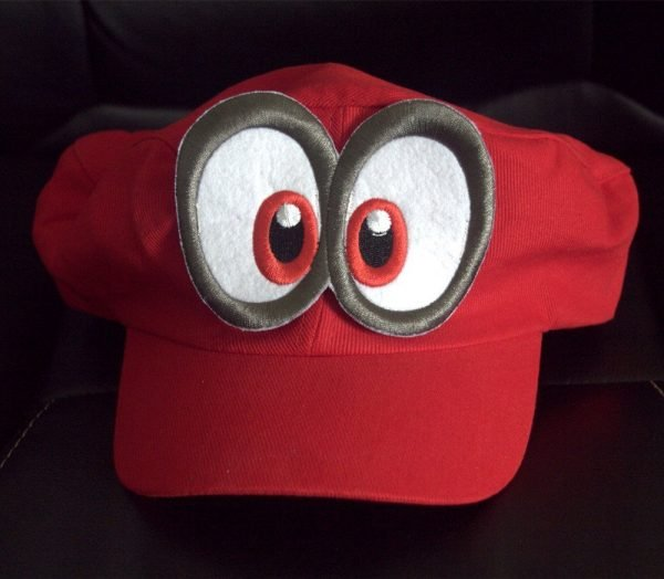 Game Super Mario Odyssey Hat Adult Kids Anime Cosplay Cap Handmade 4