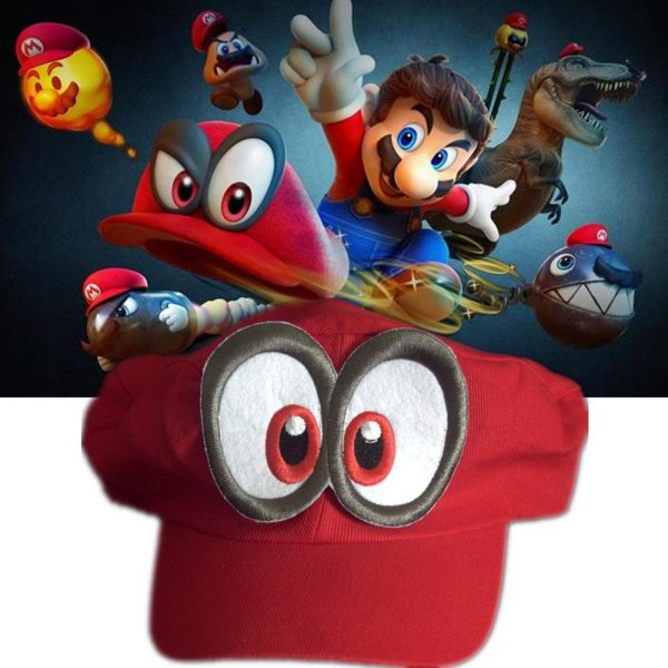 Game Super Mario Odyssey Hat Adult Kids Anime Cosplay Cap Handmade 2