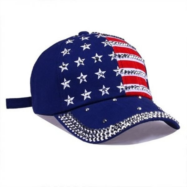 Genbitty High Quality Spring And Summer Star Pattern Baseball Cap Rivet Printed Women Men American Flag Snapback Hip Hop Hats 6